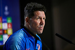 Atletico de Madrid's coach Diego Pablo Simeone during the Press Conference before UEFA Champions League match between Atletico de Madrid and Juventus at Wanda Metropolitano Stadium in Madrid, Spain. February 19, 2019. (ALTERPHOTOS/A. Perez Meca)