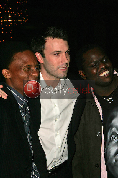 """Victor Mohale with Ben Affleck and Archie Khambula<br />at the Los Angeles Premiere of """"Ithuteng"""". Director's Guild of America, Los Angeles, CA. 11-15-06<br />Dave Edwards/DailyCeleb.com 818-249-4998"""