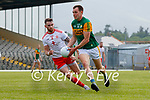 Jack Barry, Kerry, in action against Ronan McNamee, Tyrone, during the Allianz Football League Division 1 Semi-Final, between Tyrone and Kerry at Fitzgerald Stadium, Killarney, on Saturday.