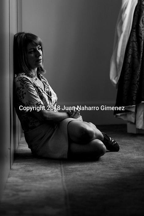 Eva Llorach poses during a portrait session.