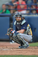 Burlington Bees catcher Tanner Lubach (8) during a game against the West Michigan Whitecaps on July 25, 2016 at Fifth Third Ballpark in Grand Rapids, Michigan.  West Michigan defeated Burlington 4-3.  (Mike Janes/Four Seam Images)