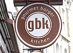 Exterior, Sign, GBK Restaurant, East London, London, Great Britain, Europe