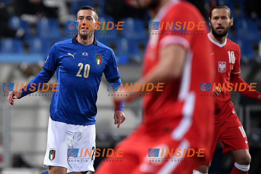 Federico Bernardeschi of Italy reacts during the Uefa Nation League Group Stage A1 football match between Italy and Poland at Citta del Tricolore Stadium in Reggio Emilia (Italy), November, 15, 2020. Photo Andrea Staccioli / Insidefoto