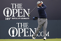 14th July 2021; The Royal St. George's Golf Club, Sandwich, Kent, England; The 149th Open Golf Championship, practice day; Jon Rahm (ESP) hits a driver from the tee on the opening hole