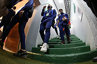 GUADALAJARA, MEXICO - MARCH 24: USMNT U-23 players enter the stadium before a game between Mexico and USMNT U-23 at Estadio Jalisco on March 24, 2021 in Guadalajara, Mexico.