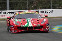 #51 AF Corse Ferrari 488 GTE EVO LMGTE Pro, Alessandro Pier Guidi, James Calado, Come Ledogar, 24 Hours of Le Mans , Free Practice 1, Circuit des 24 Heures, Le Mans, Pays da Loire, France
