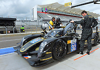 September 19, 2013: <br /> <br /> Thomas Holzer (DEU) \ Dominik Kraihamer (AUT) \ Jan Charouz (CZE) driving #32 LMP2 Lotus T128 during International Sports Car Weekend sits in the pit road on test and setup session at Circuit of the Americas in Austin, TX.