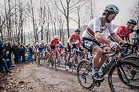 World Champion Peter Sagan (SVK/Bora-Hansgrohe) up the Baneberg<br /> <br /> 81st Gent-Wevelgem in Flanders Fields (1.UWT)<br /> Deinze > Wevelgem (251km)