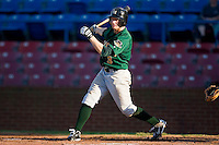 Alex Presley #3 of the Lynchburg Hillcats follows through on his swing versus the Winston-Salem Dash at Wake Forest Baseball Stadium August 29, 2009 in Winston-Salem, North Carolina. (Photo by Brian Westerholt / Four Seam Images)