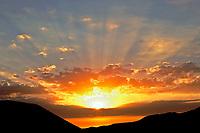 Sunrise clouds in Anza Borrego Desert State Park, California