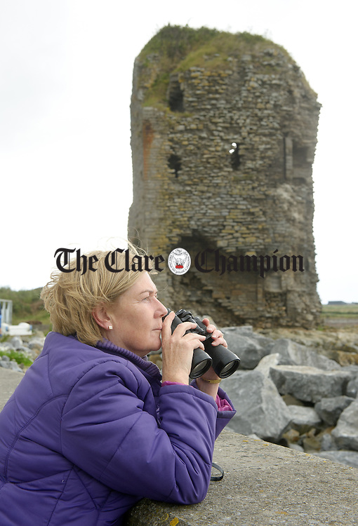 Limerick's Maura White watching the action during the All-Ireland  Currach Regatta at Doonbeg. Photograph by John Kelly.
