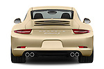 Straight rear view of a 2012 Porsche Carrera S Coupe