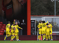 13th March 2021; Vitality Stadium, Bournemouth, Dorset, England; English Football League Championship Football, Bournemouth Athletic versus Barnsley; Carlton Morris of Barnsley celebrates with his team after scoring in 80th minute 2-3