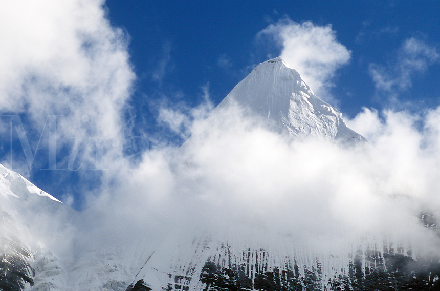 Sacred Mount Chakna Dorje (5958 M),  Nyinteng (Yading) Nature Reserve, Kham - Sichuan Province, China, (Tibet)