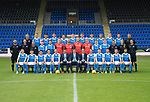 St Johnstone FC Season 2017-18 Photocall<br /> Pictured back row from left, Manny Fowler Kit Manager, Ally Gilchrist, Graham Cummins, Liam Gordon, Chris Kane, Blair Alston, Jason Kerr, Joe Shaughnessy, Murray Davidson, Brian Easton, Keith Watson and George Browning U20 GK Coach.<br /> Middle row from left, Tony Tompos, Head Physio, Paul Mathers GK Coach, Alistair Stevenson Youth Dev Manager, Kyle McClean, Paul Paton, Ben MacKenzie, Alan Mannus, Zander Clark, Mark Hurst, Scott Tanser, Liam Craig, Alex Headrick Sports Scientist, Mel Stewart Physio and Euan Peacock Chief Scout.<br /> Front row from left, David Wotherspoon, Craig Thomson, Aaron Comrie, Stefan Scougall, Steven Anderson Captain, Callum Davidson Assistant Manager, Tommy Wright Manager, Alex Cleland Coach, Chris Millar Vice Captain, Michael OíHalloran, Greg Hurst, Steven MacLean and Richie Foster. <br /> Picture by Graeme Hart.<br /> Copyright Perthshire Picture Agency<br /> Tel: 01738 623350  Mobile: 07990 594431