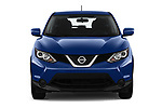 Car photography straight front view of a 2019 Nissan Rogue-Sport S 5 Door SUV Front View