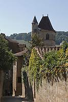 Europe/France/Midi-Pyrénées/46/Lot/Figeac: Rue Delzens et  Tour du Château du Viguier du Roy