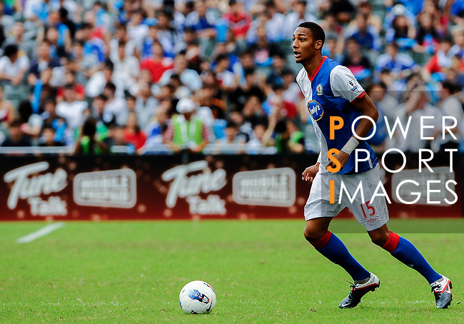 Steven N'zonzi of Blackburn Rovers in action during the Asia Trophy pre-season friendly match against Kitchee FC at the Hong Kong Stadium on July 30, 2011 in So Kon Po, Hong Kong. Photo by Victor Fraile / The Power of Sport Images