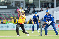 Dawid Malan, Trent Rockets lofts over the infield for four runs during London Spirit Men vs Trent Rockets Men, The Hundred Cricket at Lord's Cricket Ground on 29th July 2021