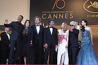 Will Smith, Agnes Jaoui, Paolo Sorrentino, Gabriel Yared and Jessica Chastain, Pedro Almodovar, Fan Bingbing, Park Chan-wook, Maren Ade<br /> Closing Ceremony Red Carpet<br /> Festival de Cannes 2017