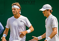 London, England, 8 July, 2019, Tennis,  Wimbledon, Men's doubles Wesley Koolhof and Marcus Daniell (DEN) (R)<br /> Photo: Henk Koster/tennisimages.com