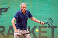 Hilversum, The Netherlands,  August 17, 2021,  Tulip Tennis Center, NKS, National Senior Tennis Championships, Men's 65+  Henk de Raadt (NED)<br /> Photo: Tennisimages/Henk Koster