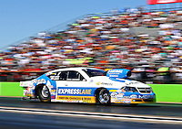Sept. 22, 2013; Ennis, TX, USA: NHRA pro stock driver Allen Johnson during the Fall Nationals at the Texas Motorplex. Mandatory Credit: Mark J. Rebilas-