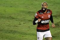 Volta Redonda (RJ), 05/04/2021 - MADUREIRA-FLAMENGO - Gabriel Barbosa, do Flamengo, comemora gol. Partida entre Madureira e Flamengo, válida pela oitava rodada da Taça Guanabara, realizada no Estádio Raulino de Oliveira, em Volta Redonda, nesta segunda-feira (05).