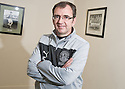 Hibernian manager Pat Fenlon at today's press conference at Easter Road  ...