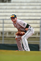 Slippery Rock Carson Kessler (17) during a game against the University of the Sciences Devils on March 6, 2015 at Jack Russell Field in Clearwater, Florida.  Slippery Rock defeated University of the Sciences 6-3.  (Mike Janes/Four Seam Images)