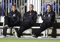 Coaches Of the Carolina Railhawks in the last few minutes of the match during the second leg of the USSF-D2 championship match against the Puerto Rico Islanders at WakeMed Soccer Park, in Cary, North Carolina on October 30 2010. Game ended 1-1, Islanders won the championship 3-1 on overall goals.
