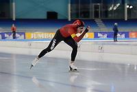 SCHAATSEN: HEERENVEEN: 10-10-2020, KNSB Trainingswedstrijd, Tjerk de Boer, ©foto Martin de Jong