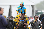 May 16, 2015: American Pharoah, Victor Espinoza up,  wins the Preakness Stakes at Pimlico Race Course in Baltimore, MD. Trainer is Bob Baffert; owner is Ahmed Zayed. Joan Fairman Kanes/ESW/CSM