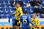 17.10.2020, xmeix, 1.Fussball Bundesliga,      TSG 1899 Hoffenheim - Borussia Dortmund, emspor. v.l.n.r, <br /> Giovanni Reyna(Borussia Dortmund), Kevin Akpoguma (TSG 1899 Hoffenheim) beim Spiel in der Fussball Bundesliga, TSG 1899 Hoffenheim - Borussia Dortmund.<br /> <br /> Foto © PIX-Sportfotos *** Foto ist honorarpflichtig! *** Auf Anfrage in hoeherer Qualitaet/Aufloesung. Belegexemplar erbeten. Veroeffentlichung ausschliesslich fuer journalistisch-publizistische Zwecke. For editorial use only. DFL regulations prohibit any use of photographs as image sequences and/or quasi-video.