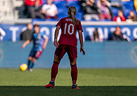 HARRISON, NJ - MARCH 08: Jordan Nobbs #10 of England watches the ball during a game between England and Japan at Red Bull Arena on March 08, 2020 in Harrison, New Jersey.