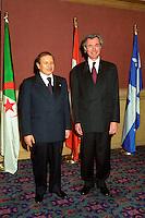 - Abdelaziz Bouteflika, Algeria President ,Pierre Pettigrew (R)