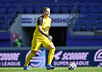 goalkeeper Justien Odeurs (13) of Anderlecht pictured during a female soccer game between RSC Anderlecht Dames and Standard Femina de Liege on the sixth matchday of the 2021 - 2022 season of Belgian Womens Super League , saturday 9 th of October 2021  in Brussels , Belgium . PHOTO SPORTPIX | DAVID CATRY