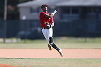 Alexander Aguila (58) of Mater Academy in Hialeah, Florida during the Under Armour Baseball Factory National Showcase, Florida, presented by Baseball Factory on June 13, 2018 the Joe DiMaggio Sports Complex in Clearwater, Florida.  (Nathan Ray/Four Seam Images)