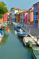 Colorful houses, Fondementi Pontinella Destro, Burano Venice Italy The traditional colourful houses of Burano Island, Venice Lagoon, Italy