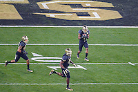 January 01, 2014:<br /> <br /> Baylor Bears inside receiver Corey Coleman #1 attempt to return a kick during Tostitos Fiesta Bowl at University of Phoenix Stadium in Scottsdale, AZ. UCF defeat Baylor 52-42 to claim it's first ever BCS Bowl trophy.