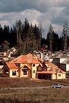New house construction, Bellevue, Washington State, Pacific Northwest,