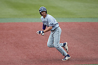 Kenny Levari (7) of the Old Dominion Monarchs takes off for second base during the game against the Charlotte 49ers at Hayes Stadium on April 23, 2021 in Charlotte, North Carolina. (Brian Westerholt/Four Seam Images)