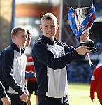 Andy Mitchell with the reserve league cup