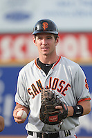 Ben Turner #18 of the San Jose Giants before a game against the Lancaster JetHawks at The Hanger on May 3, 2014 in Lancaster, California. San Jose defeated Lancaster, 5-4. (Larry Goren/Four Seam Images)
