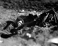German machine-gun nest and dead gunner.  Villers Devy Dun Sassey, France.  November 4, 1918. Lt. M. S. Lentz. (Army)<br />NARA FILE #:  111-SC-33408<br />WAR & CONFLICT BOOK #:  692