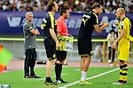 Manchester United Manager Jose Mourinho (l) during the International Champions Cup China 2016, match between Manchester United vs Borussia  Dortmund on 22 July 2016 held at the Shanghai Stadium in Shanghai, China. Photo by Marcio Machado / Power Sport Images