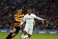 Pictured: Carl McHugh (L), Wayne Routledge (R). Sunday 24 February 2013<br /> Re: Capital One Cup football final, Swansea v Bradford at the Wembley Stadium in London.