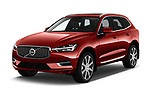 2018 Volvo XC60-Hybride-Rechargeable Inscription-4wd 5 Door SUV Angular Front automotive stock photos of front three quarter view