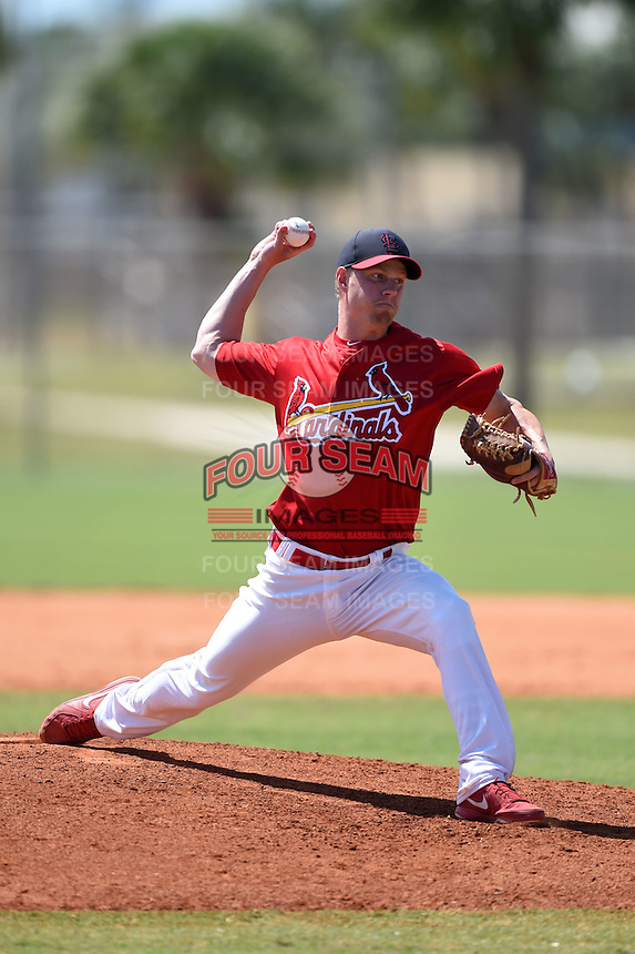 St. Louis Cardinals pitcher Blake McKnight (35) during a minor league spring training game against the New York Mets on April 1, 2015 at the Roger Dean Complex in Jupiter, Florida.  (Mike Janes/Four Seam Images)