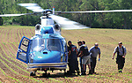 Covington medics and CareFlight personnel load a patient aboard the medical helicopter on Friday afternoon. The patient was the victim of a motorcycle crash in the 4600 block of Rangeline Road near Covington. The crash occurred around 2:45 p.m. Miami County Deputies continue to investigate the apparent two-vehicle crash. No further details are yet available.